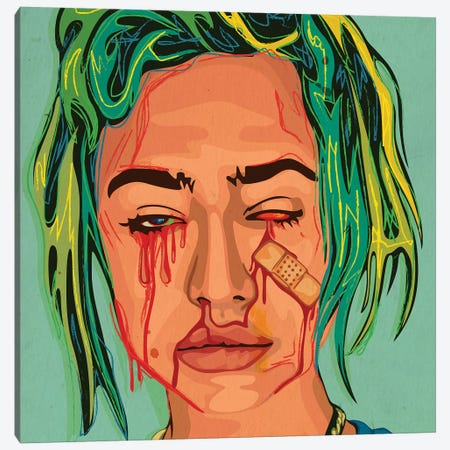 Bloody Girl II Canvas Print #DCA113} by Dai Chris Art Canvas Artwork