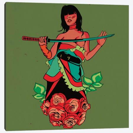 Rose Girl Ninja Canvas Print #DCA115} by Dai Chris Art Canvas Print