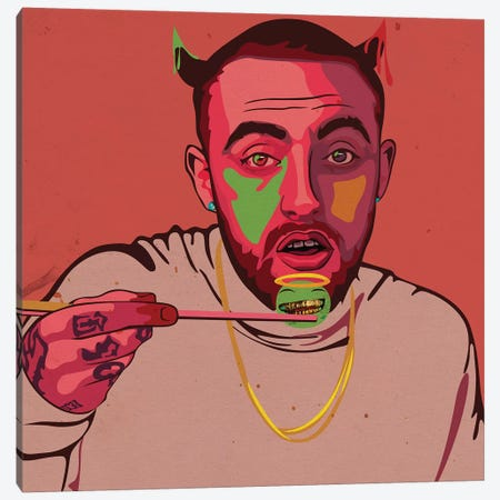 Mac Miller Art Canvas Print #DCA116} by Dai Chris Art Canvas Print
