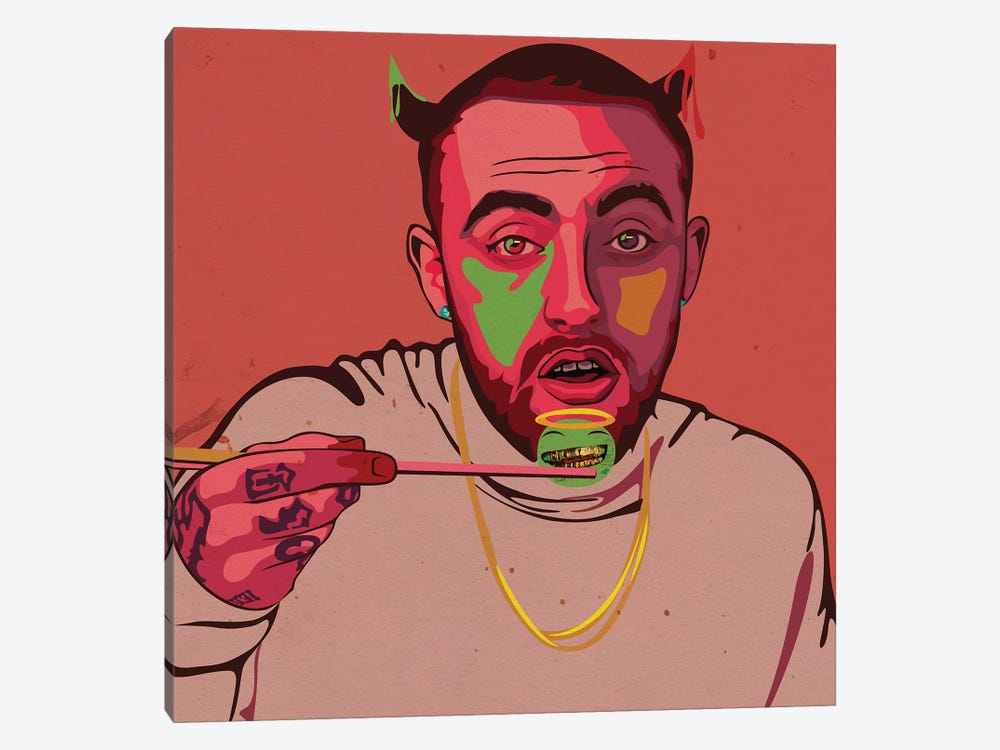 Mac Miller Art by Dai Chris Art 1-piece Canvas Wall Art