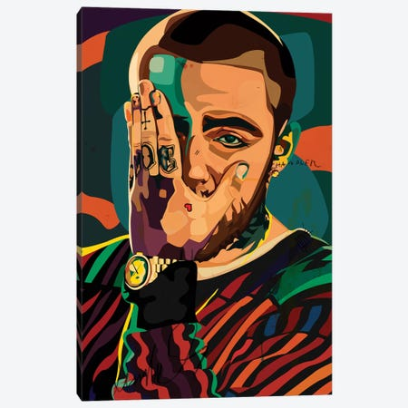 Mac Miller Design Canvas Print #DCA117} by Dai Chris Art Canvas Art Print