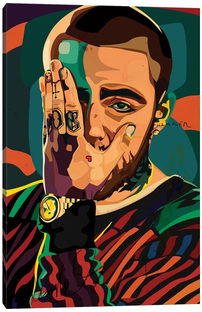 Mac Miller Design Canvas Art Print