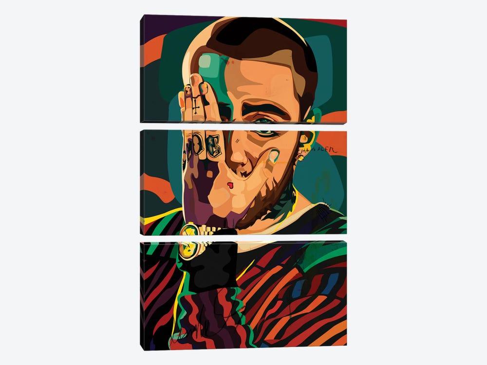 Mac Miller Design by Dai Chris Art 3-piece Canvas Art Print