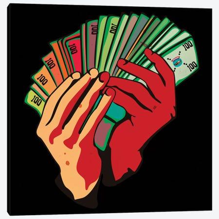 Money Hands Canvas Print #DCA118} by Dai Chris Art Canvas Artwork