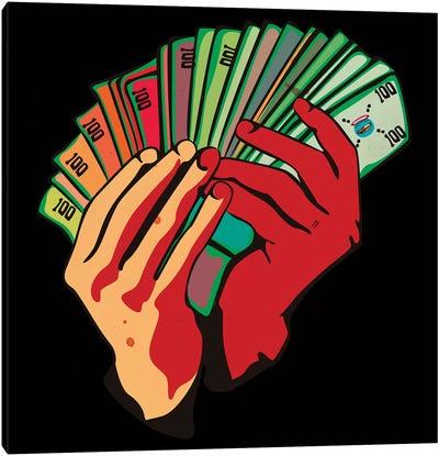 Money Hands Canvas Art Print