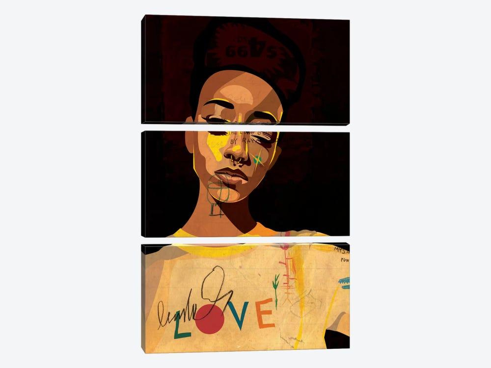Hannah II by Dai Chris Art 3-piece Canvas Artwork