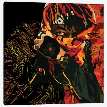 J.I.D Face Covered Canvas Print #DCA122} by Dai Chris Art Canvas Print