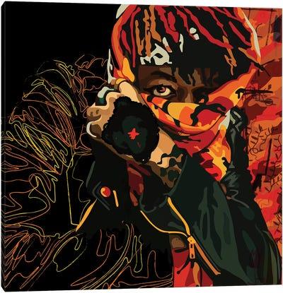 J.I.D Face Covered Canvas Art Print