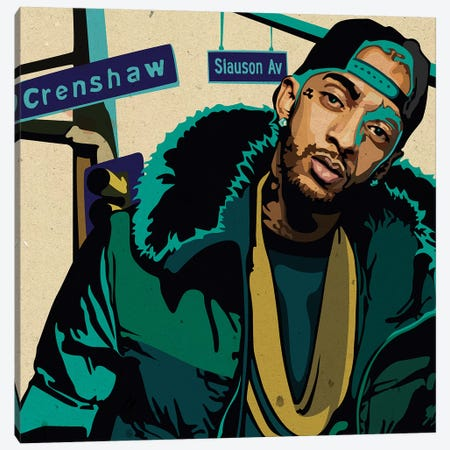 Nipsey Hussle Canvas Print #DCA132} by Dai Chris Art Canvas Art