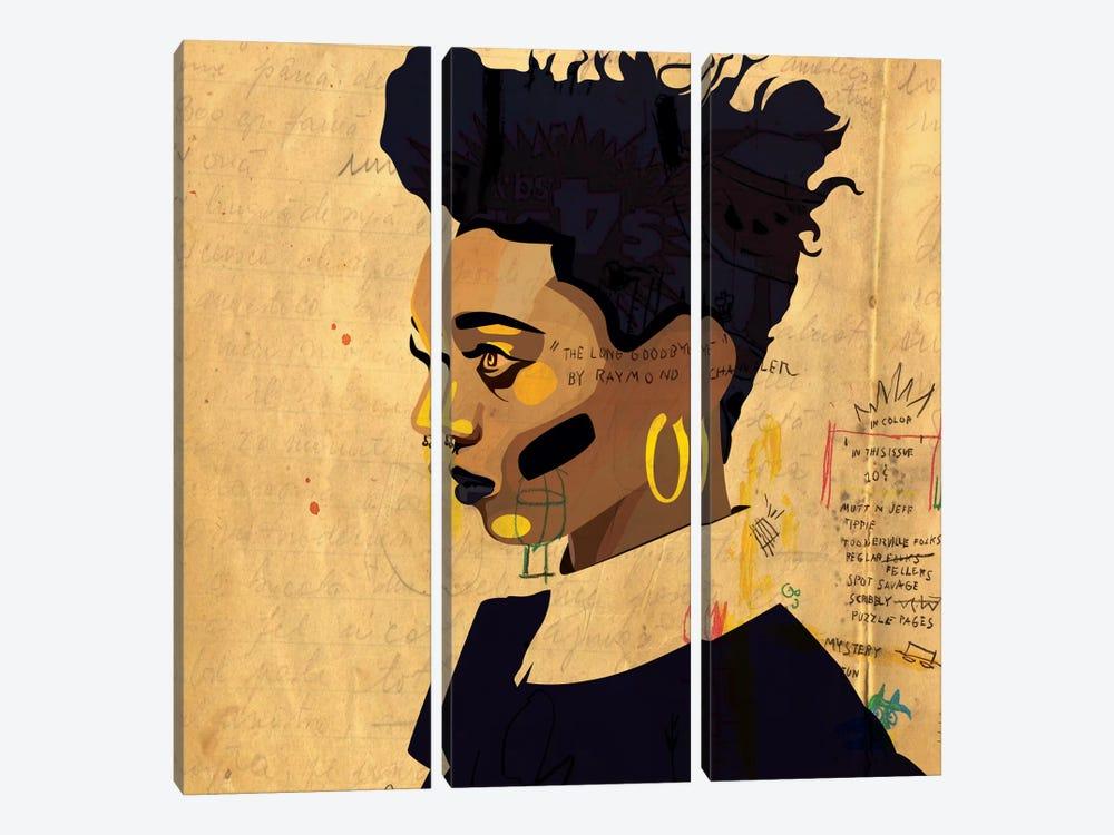 Hannah IV by Dai Chris Art 3-piece Canvas Artwork