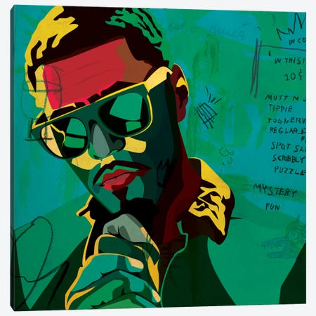 J. Cole Canvas Print #DCA15} by Dai Chris Art Canvas Wall Art