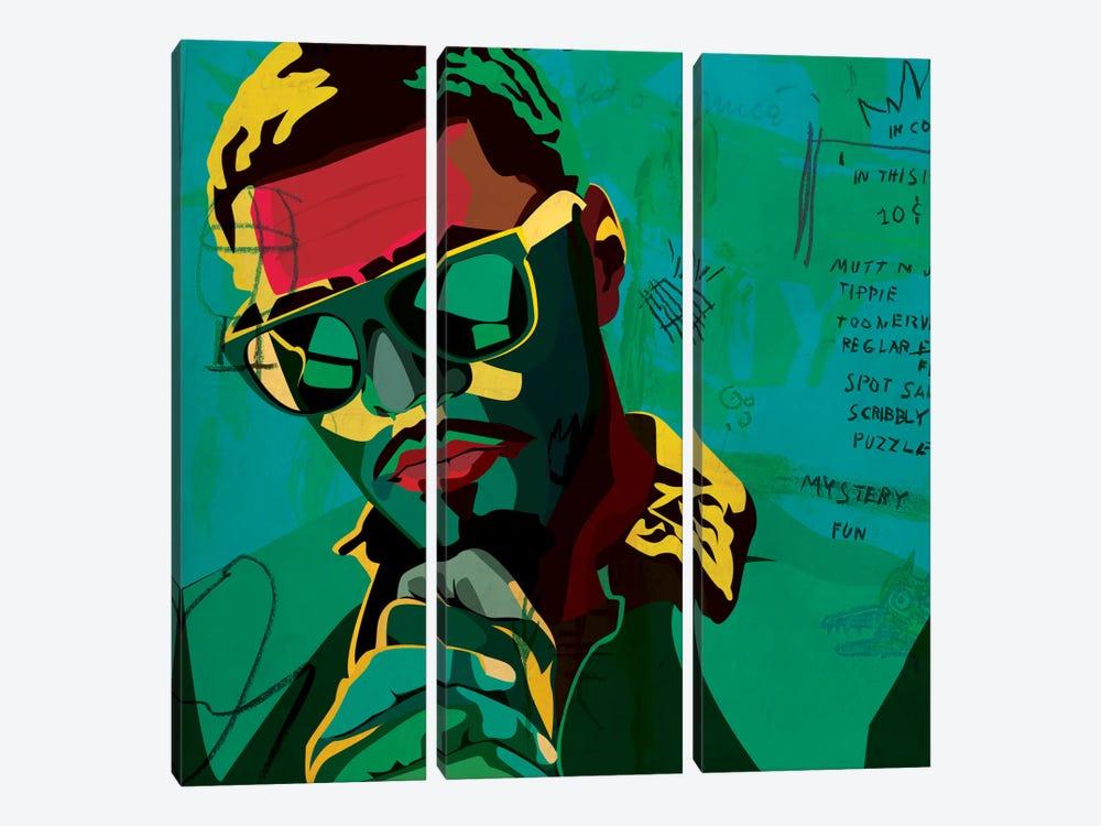 J. Cole by Dai Chris Art 3-piece Canvas Art
