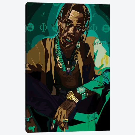 Travis Canvas Print #DCA172} by Dai Chris Art Canvas Art