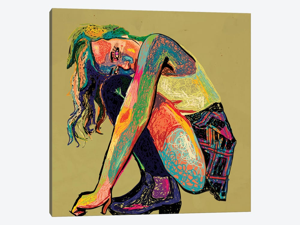 Girl In Chaos by Dai Chris Art 1-piece Canvas Wall Art