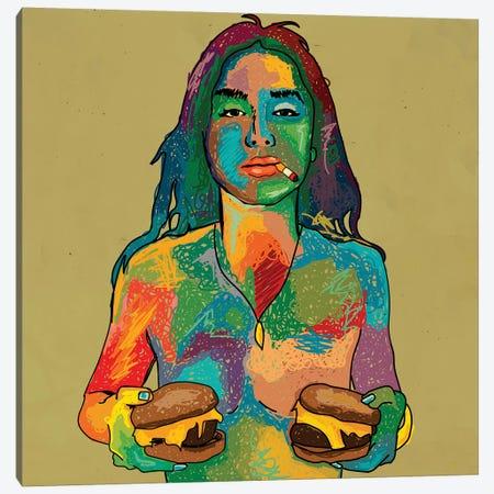 Cheeseburgers Canvas Print #DCA181} by Dai Chris Art Canvas Print