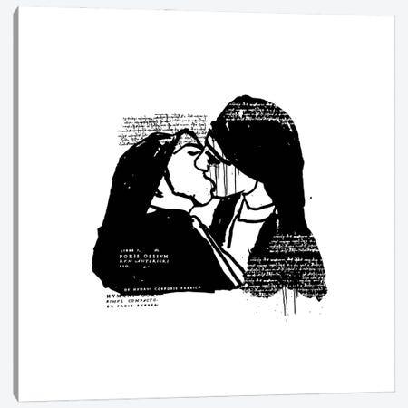 Nuns Kissing Canvas Print #DCA202} by Dai Chris Art Canvas Art