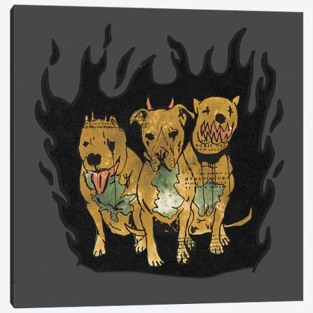 Hounds Of Hell Canvas Print #DCA204} by Dai Chris Art Canvas Art Print
