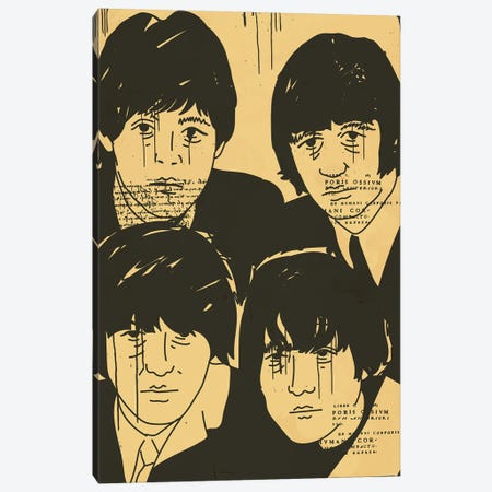 The Beatles Canvas Print #DCA207} by Dai Chris Art Canvas Print