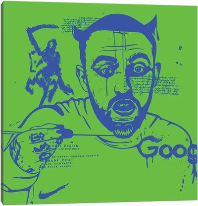 Mac Blue On Green 2020 Canvas Art Print