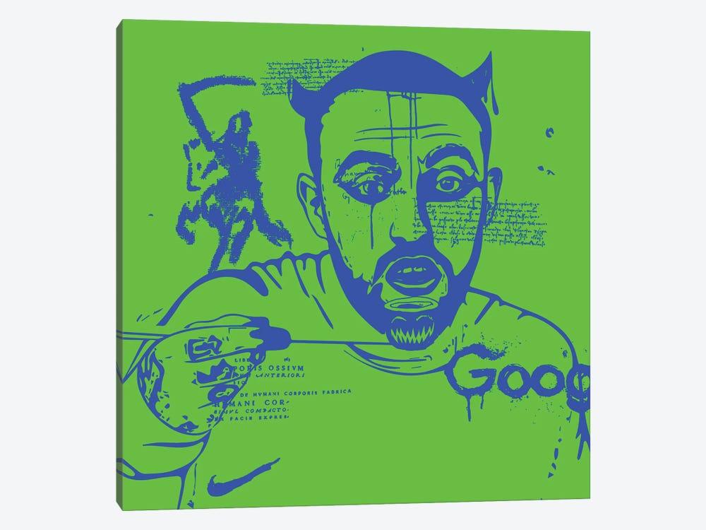 Mac Blue On Green 2020 by Dai Chris Art 1-piece Art Print