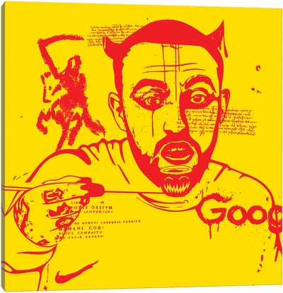 Mac Red On Yellow 2020 Canvas Art Print