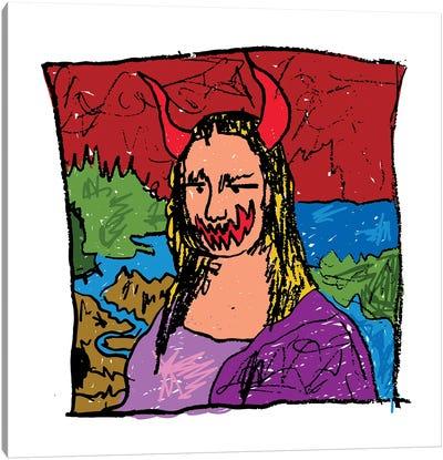 Mona Lisa Spook Canvas Art Print