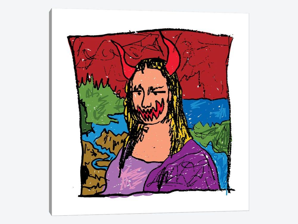 Mona Lisa Spook by Dai Chris Art 1-piece Canvas Print