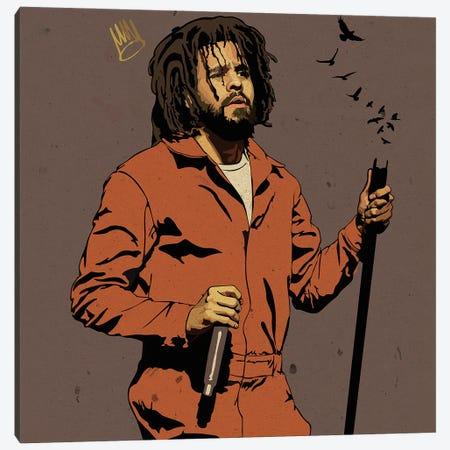 J Cole Canvas Print #DCA221} by Dai Chris Art Canvas Artwork