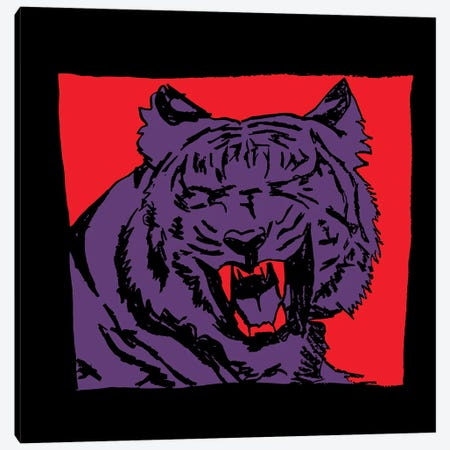 Purple Tiger 2020 Canvas Print #DCA224} by Dai Chris Art Canvas Art Print