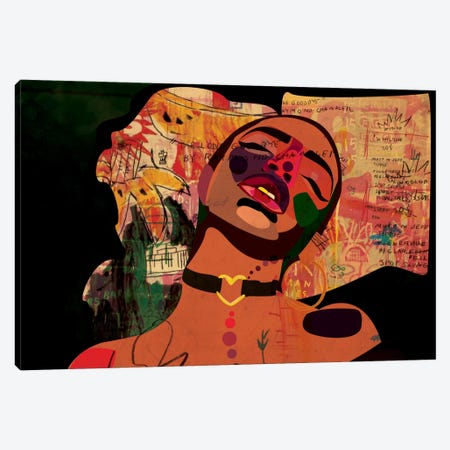 Kaji VIII Canvas Print #DCA23} by Dai Chris Art Canvas Artwork