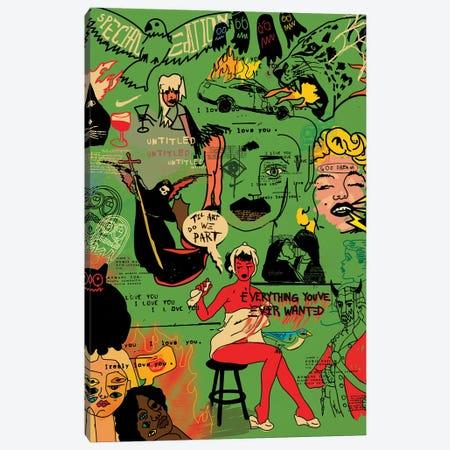 Pop Doodles (Green) Canvas Print #DCA249} by Dai Chris Art Canvas Artwork