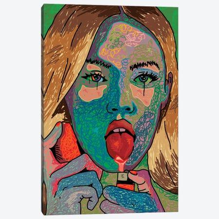 Megan Fox Scribble Style Canvas Print #DCA254} by Dai Chris Art Canvas Art