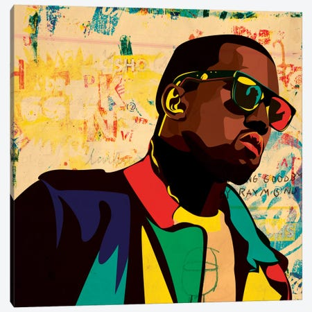 Kanye Canvas Print #DCA25} by Dai Chris Art Canvas Print
