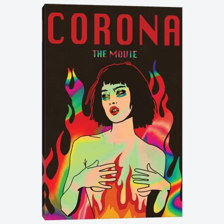 Corona The Movie Poster Canvas Print #DCA265} by Dai Chris Art Art Print