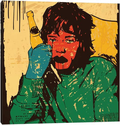 Mick Jagger Rolling Stones Canvas Art Print