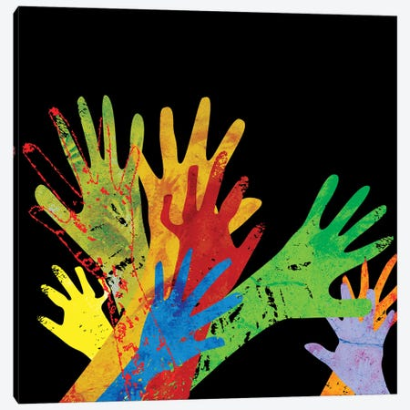 Hands Of Our Ancestors Canvas Print #DCA286} by Dai Chris Art Canvas Art Print