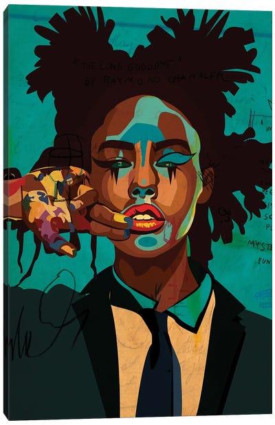 Painter Girl Blue Edition Canvas Art Print