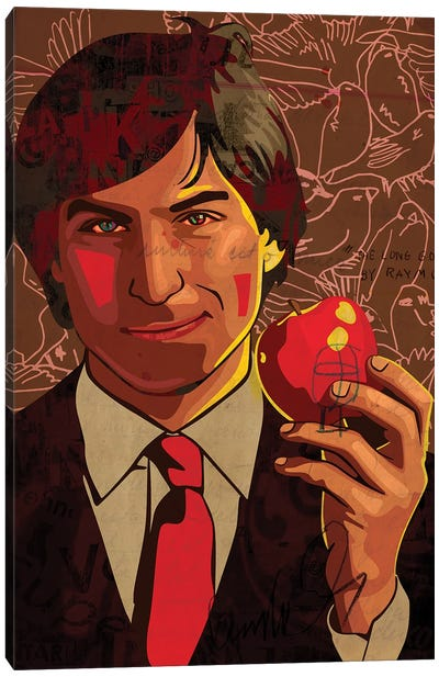 Steve Jobs 2021 Brown Canvas Art Print