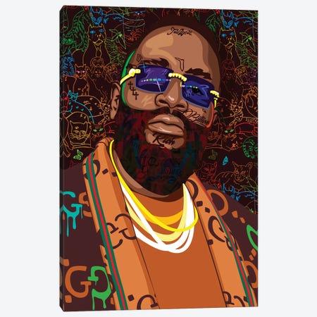 Rick Ross 2021 Canvas Print #DCA318} by Dai Chris Art Canvas Art