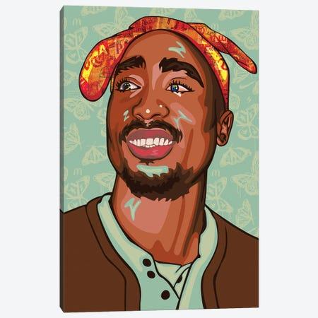 Tupac 2021 Canvas Print #DCA320} by Dai Chris Art Canvas Art Print