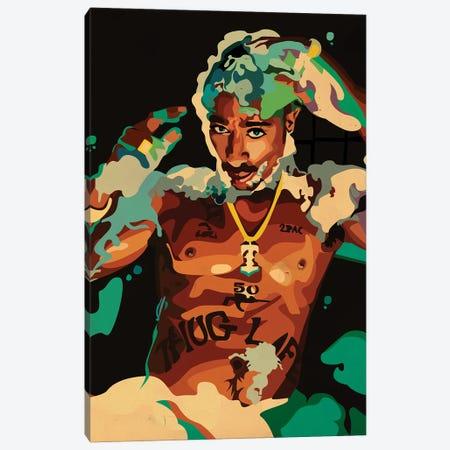 Tupac Hot Tub Canvas Print #DCA321} by Dai Chris Art Canvas Print