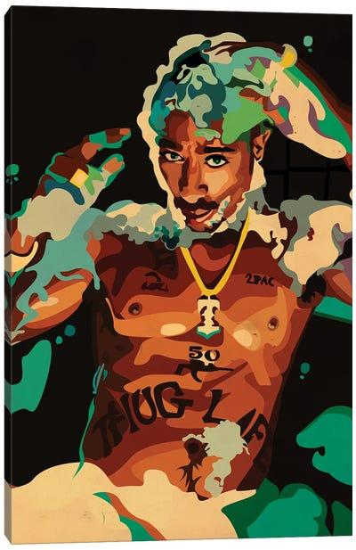 Tupac Hot Tub Canvas Art Print