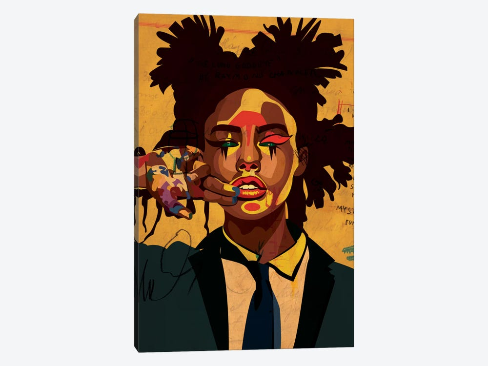 Painter Girl by Dai Chris Art 1-piece Canvas Art Print