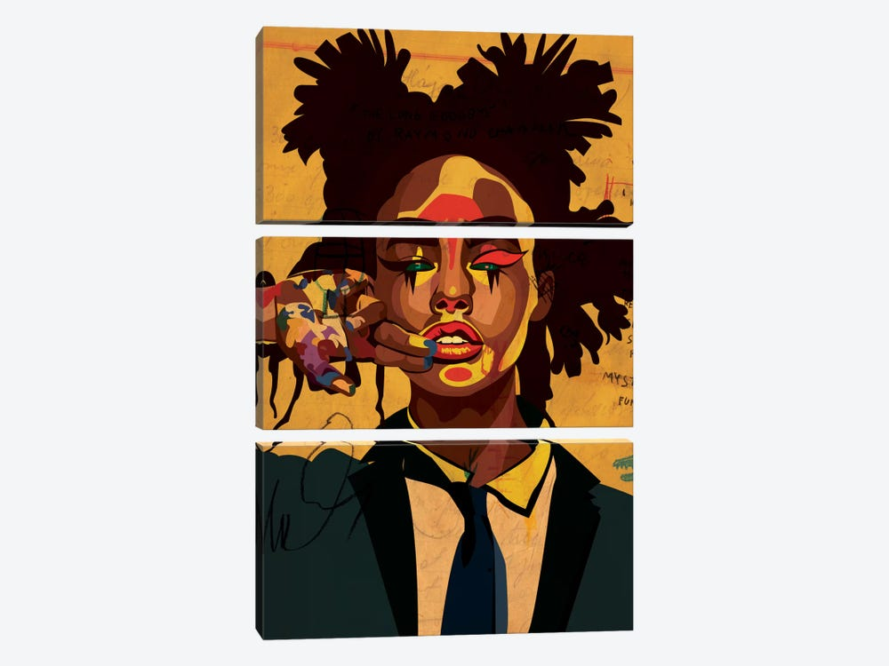 Painter Girl by Dai Chris Art 3-piece Canvas Print