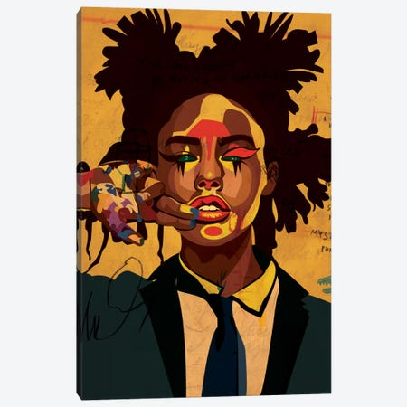 Painter Girl Canvas Print #DCA34} by Dai Chris Art Canvas Wall Art