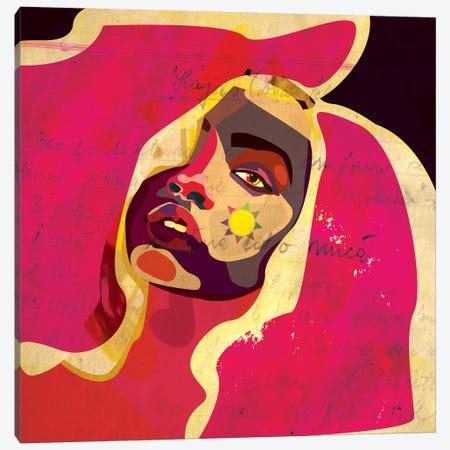 Playful Colors Girl Canvas Print #DCA35} by Dai Chris Art Canvas Artwork
