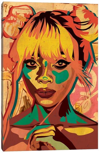Pop Art Buns Girl Canvas Print #DCA36