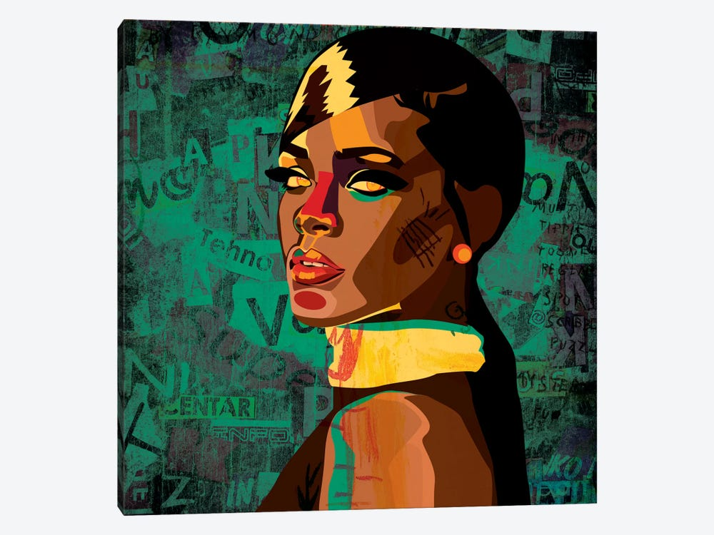 Rihanna I by Dai Chris Art 1-piece Canvas Artwork