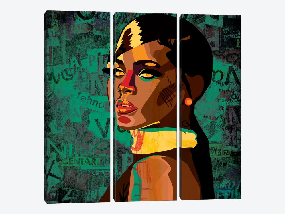 Rihanna I by Dai Chris Art 3-piece Canvas Artwork