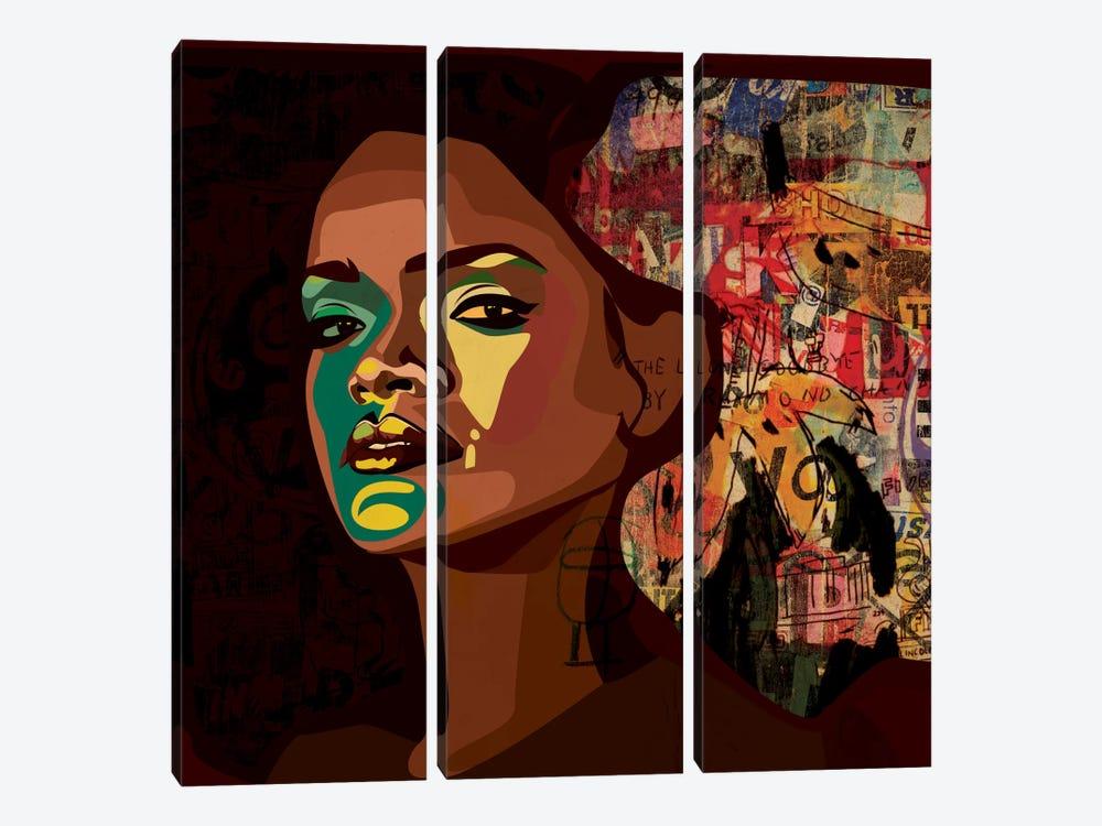 Rihanna II by Dai Chris Art 3-piece Canvas Print